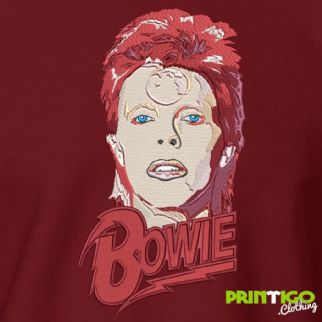 David Bowie Sweatshirt Embroidered